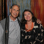 Artist Julius Friedman and President and CEO Penelope Peavler.