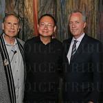 Artist Julius Friedman, Sebastian Moh and Mayor Greg Fischer.