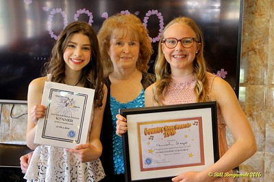 Maryanne Gibson with Hailey Benedict & Hannah Gazso - Youth Winners - Star Search 2016 094