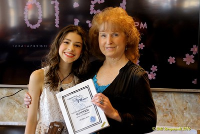 Maryanne Gibson with Hailey Benedict - Youth Winner - Star Search 2016 086