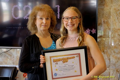 Maryanne Gibson with Hannah Gazso - Youth Runner Up - Star Search 2016 098