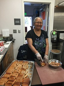 Helen the School Cook cooked up a storm for the potluck!