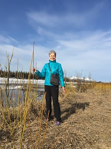 Playwright and Producer Anne Hanley enjoys a walk before our last planes.