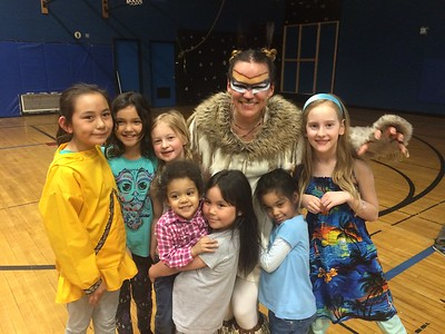 Lynx always has young lady fans to meet after the show!
