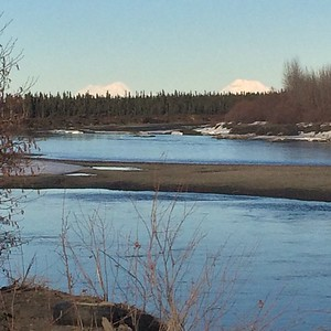Denali and Sultana over the Kuskokwim