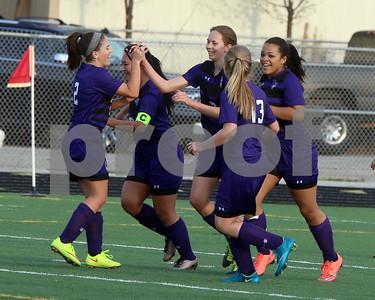 LHS Girls Soccer at Harmon - JV and Varsity