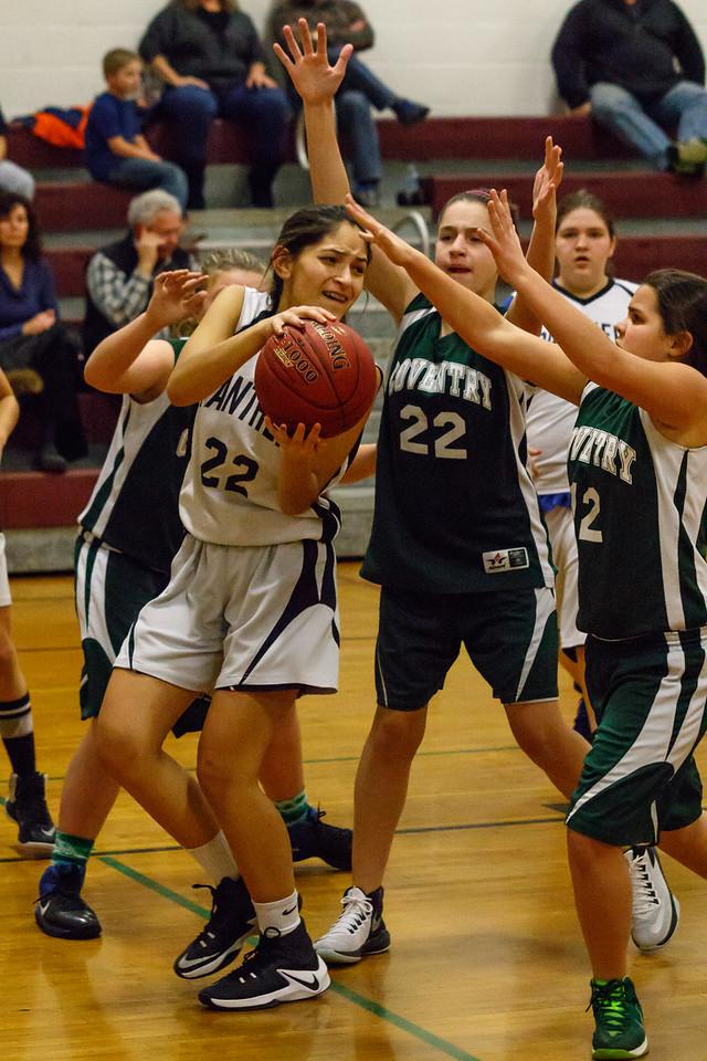 Lebanon Middle School Girls JV Basketball vs. Coventry