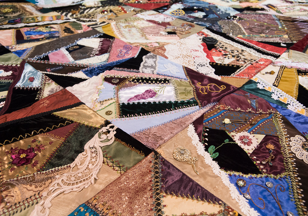 . Detail of a quilt, pictured Wednesday afternoon August 3, 2016 during the Larimer County Fair and Rodeo at The Ranch in Loveland. (Photo by Michael Brian/Loveland Reporter-Herald)