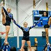 Cheerleaders perform during the annual Thanksgiving pep rally at Leominster High on Tuesday morning. SENTINEL & ENTERPRISE / Ashley Green