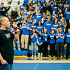 Manny Cruz performs 'Rhythm of Love'  during the annual Thanksgiving pep rally at Leominster High on Tuesday morning. SENTINEL & ENTERPRISE / Ashley Green