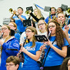 The Marching Band performs during the annual Thanksgiving pep rally at Leominster High on Tuesday morning. SENTINEL & ENTERPRISE / Ashley Green