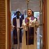 Fr. Carlos Enrique leads the procession