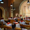 Participants at the Major Superiors meeting gather together for the Mass