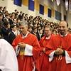Belen Jesuit President Fr. Guillermo M. García-Tuñón, S.J. celebrated the Mass for the High School in the gym. Fr. Pedro Suarez, S.J. celebrated Mass for the Middle School in the Roca Theater