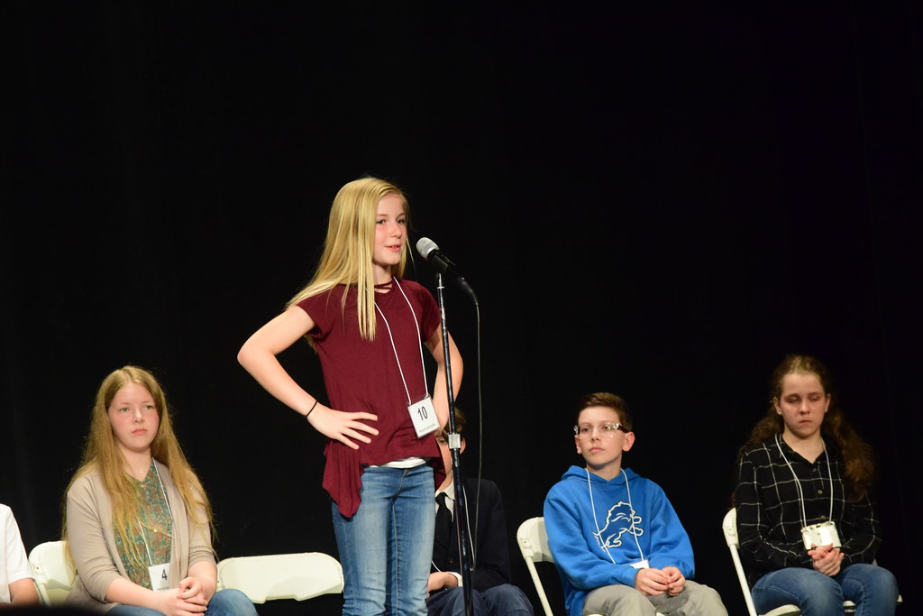 . Corey Micho - Morning Sun   The 2018 CFX Morning Sun Regional Spelling Bee