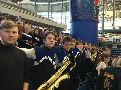courtesy photo  The Mt. Pleasant Marching Band at the 2016 state finals.