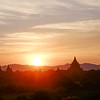 Sunset view from Shwesandaw Pagoda