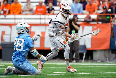 SYRACUSE, NY - APRIL 16:   at the Carrier Dome on April 16, 2016 in Syracuse, New York.  Syracuse defeated North Carolina 13-7.  (Photo by Rich Barnes/Getty Images) *** Local Caption ***