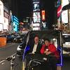 Ken and Sheryl take a pedicab