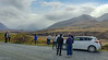 A blurry photo of LOTR Tourists! Getting there first glimpse of Mt. Sunday (Edoras). And my stunningly photogenic Toyota Corolla.