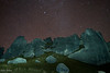 Stars and massive rocks at Castile Hill.