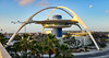 The Theme Building at Los Angeles International Airport. Waiting for my flight to Australia.