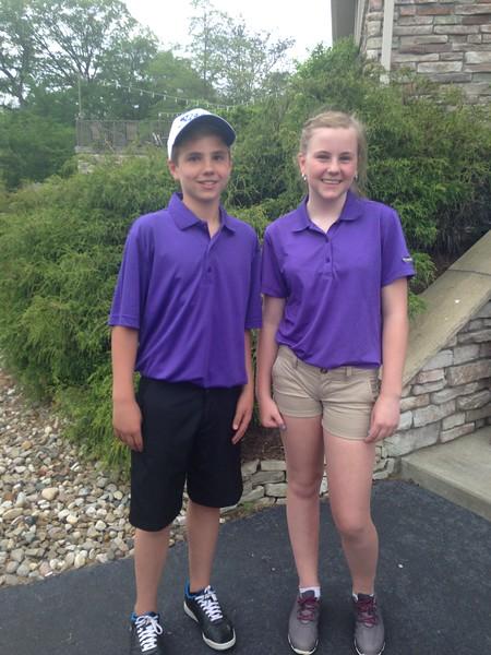 6 hole, long tee winners<br /> Charlie O'Halloran, Lia Thomas