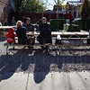 Enjoying the patio at Garage Bar,  700 E Market St, during the NuLu Holiday Open House.