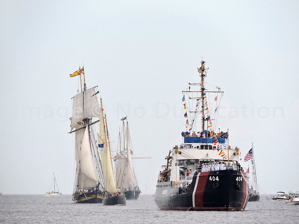 2016 0818: USCGC SUNDEW Escorts Tall Ships into Harbor