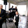 The ring bearer walks with a purpose!