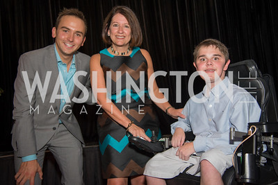 Tommy McFly, Dana Wood, James Wood, 16th Annual Dining away Duchenne, Eastern Market, September 13, 2016