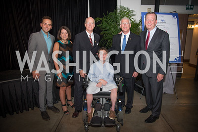 Tommy McFly, Dana Wood, Honoree Congressman Robert Aderholt, James Wood, Event Chair Senator Roger Wicker, Joel Wood, 16th Annual Dining away Duchenne, Eastern Market, September 13, 2016-4.