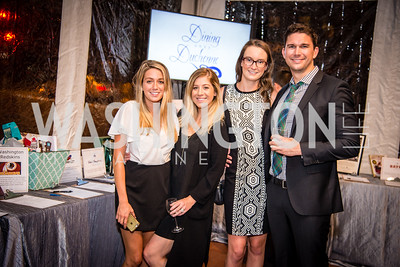 Haley Feaster Natalie Feaster,Jenna Jensen, James Stursberg,16th Annual Dining away Duchenne, Eastern Market, September 13, 2016   .NEF