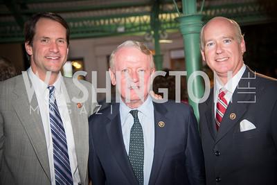 Congressman Jim Himes, Congressman Leonard Lance, Honoree Congressman Robert Aderholt, 16th Annual Dining away Duchenne, Eastern Market, September 13, 2016