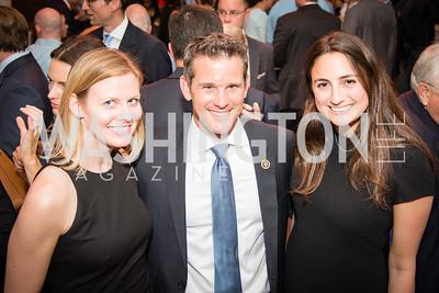 Congressman Adam Kinzinger, Amy Forester Roberty, Julia Tishman, 16th Annual Dining away Duchenne, Eastern Market, September 13, 2016.NEF