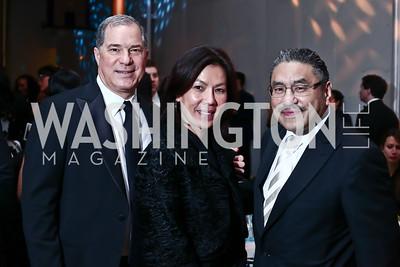 Jim and Mai Abdo, Bob Hisaoka. Photo by Tony Powell. 2016 Alvin Ailey Gala. Kennedy Center. February 2, 2016