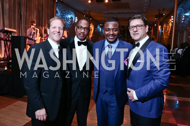 John Malkin, Yebbie Watkins, Robert Battle, Lyndon Boozer. Photo by Tony Powell. 2016 Alvin Ailey Gala. Kennedy Center. February 2, 2016