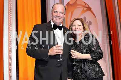 Rep. Dan Kildee, Jennifer Kildee. Photo by Tony Powell. 2016 Ambassadors Ball. Marriott Marquis. September 13, 2016