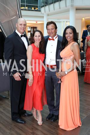 Brian Rodgers, Emily and JR Paterakis, Chartese Berry. Photo by Tony Powell. 2016 Ambassadors Ball. Marriott Marquis. September 13, 2016