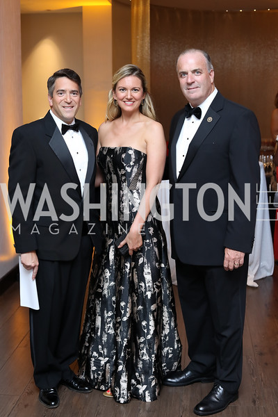 James Rosen and Sara Durkin-Rosen, Rep. Dan Kildee. Photo by Tony Powell. 2016 Ambassadors Ball. Marriott Marquis. September 13, 2016