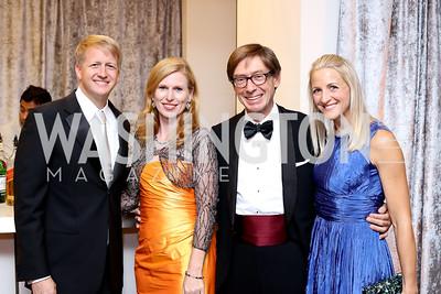 David Marriott, Huberta Wittig, Germany Amb. Peter Wittig, Carrie Marriott. Photo by Tony Powell. 2016 Ambassadors Ball. Marriott Marquis. September 13, 2016