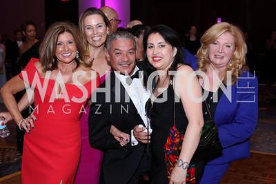 Kim Norman, Krista Stark, Ramon Guerrero, Marie France, Norma Kaehler. Photo by Tony Powell. 2016 Ambassadors Ball. Marriott Marquis. September 13, 2016