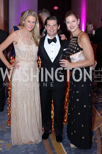 Kate Manders, Jonathan Peel, Deanna Wells. Photo by Tony Powell. 2016 Ambassadors Ball. Marriott Marquis. September 13, 2016