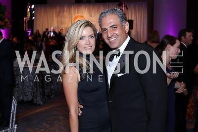 Amanda and Jake Perry. Photo by Tony Powell. 2016 Ambassadors Ball. Marriott Marquis. September 13, 2016