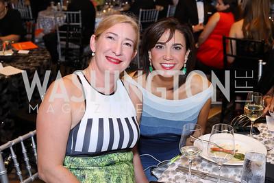 Amy Locascio, Cristina Antelo. Photo by Tony Powell. 2016 Ambassadors Ball. Marriott Marquis. September 13, 2016