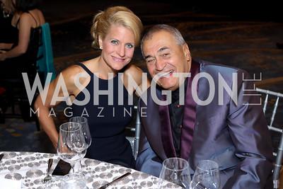 Ellen McCarthy, Tony Podesta. Photo by Tony Powell. 2016 Ambassadors Ball. Marriott Marquis. September 13, 2016