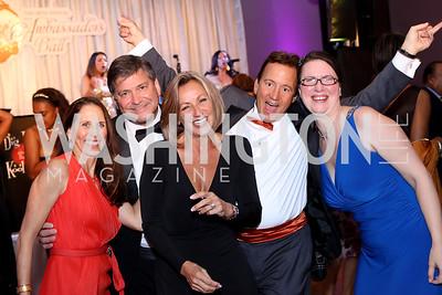 Emily Paterakis, Gordon Reid, Toni Judy, JR Paterakis, Melissa Shifflett. Photo by Tony Powell. 2016 Ambassadors Ball. Marriott Marquis. September 13, 2016