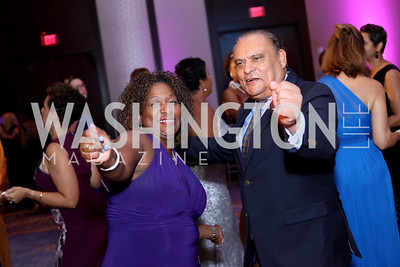 Lashun Lawson, Mauritius Amb. Phokeer Soorooj. Photo by Tony Powell. 2016 Ambassadors Ball. Marriott Marquis. September 13, 2016