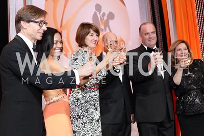Germany Amb. Peter Wittig, Chartese Berry, Rep. Cathy McMorris-Rodgers, Brian Rodgers, Rep. Dan Kildee, Jennifer Kildee. Photo by Tony Powell. 2016 Ambassadors Ball. Marriott Marquis. September 13, 2016
