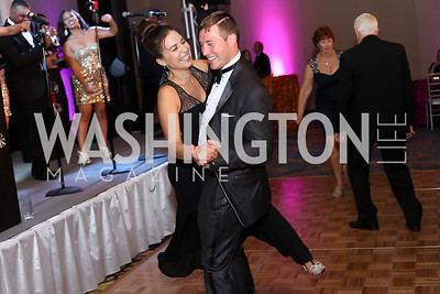 Dancing couple. Photo by Tony Powell. 2016 Ambassadors Ball. Marriott Marquis. September 13, 2016
